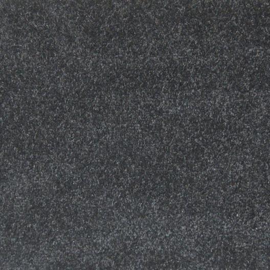 Moquette velours minimoon noire 4 m leroy merlin for Dalle moquette noire
