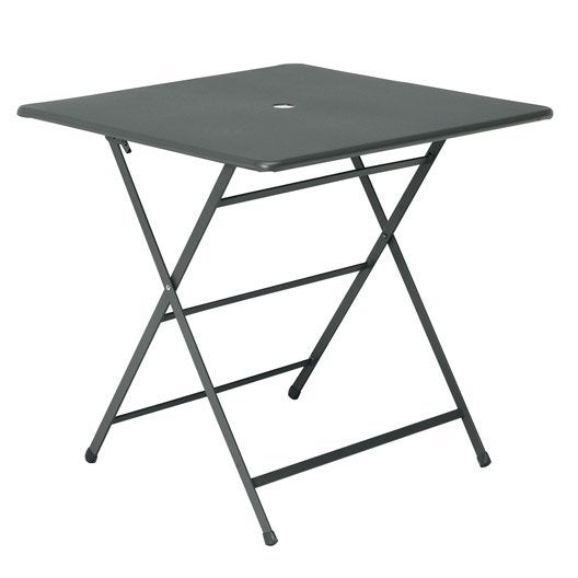 Table de jardin cassis carr e gis 2 personnes leroy merlin - Leroy merlin table pliante ...