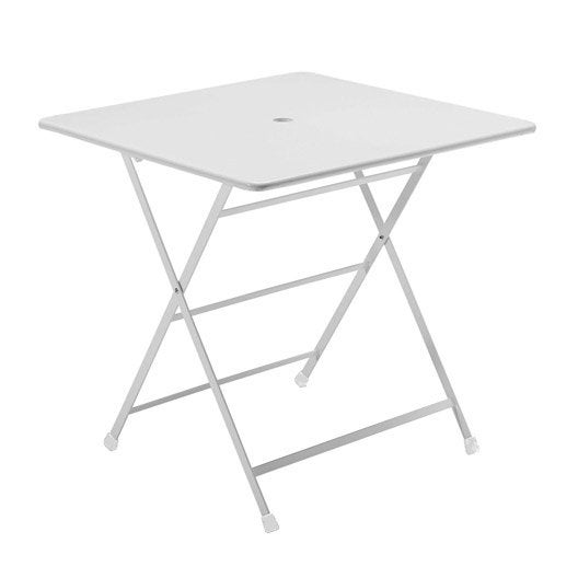 Table de jardin cassis carr e blanc 2 personnes leroy merlin - Leroy merlin table jardin ...