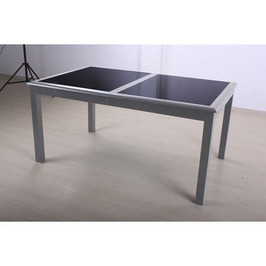 Table de jardin azua rectangulaire ivoire leroy merlin - Table de jardin rectangulaire ...