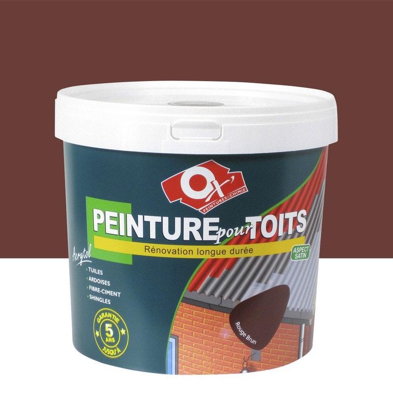 Peinture Toiture Exterieur Acrytol Oxytol Rouge Brun 10 L Leroy