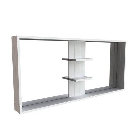 miroir avec tablettes long island leroy merlin. Black Bedroom Furniture Sets. Home Design Ideas