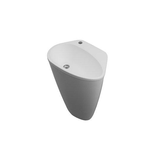 lavabo colonne en r sine marbre blanc stori leroy merlin. Black Bedroom Furniture Sets. Home Design Ideas