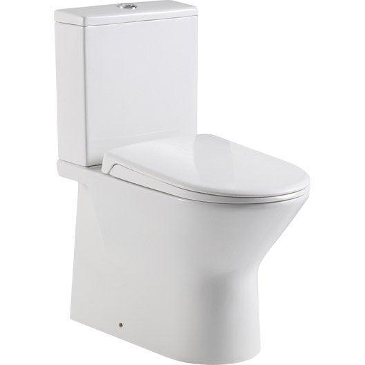 Pack wc poser sortie horizontale sensea compacta leroy merlin Wc a poser sortie horizontale