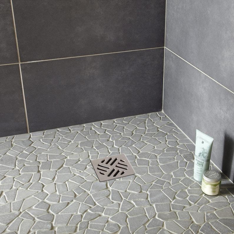 Galets sol et mur 3+3 opus marbre gris