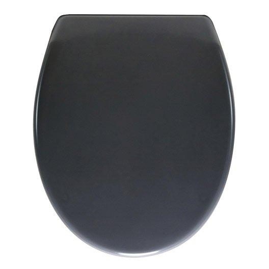 Abattant frein de chute d clipsable gris plastique thermodur sensea klik l - Abattant wc frein de chute leroy merlin ...