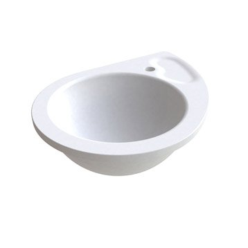 Vasque à encastrer céramique l.53 x P.41.5 cm blanc Drop