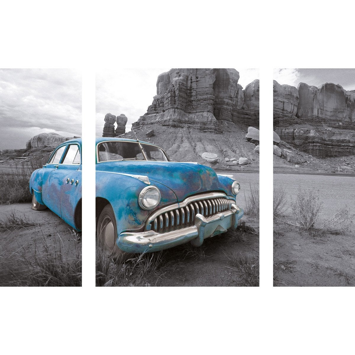 Verre Imprimé Old Car L 60 X H 80 Cm Leroy Merlin