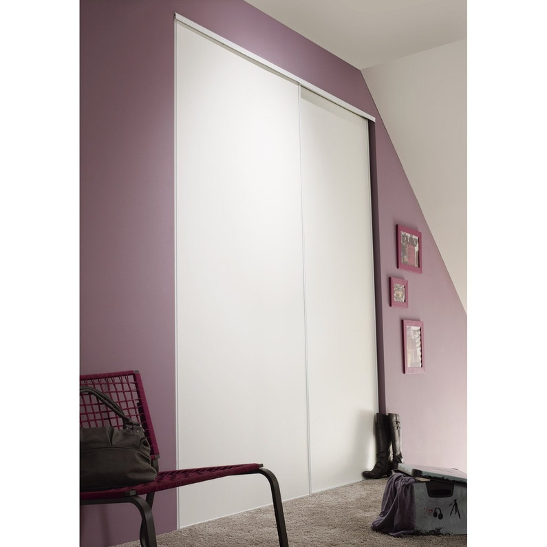 Lot De 2 Portes De Placard Coulissante Optimum L210 X H250 Cm