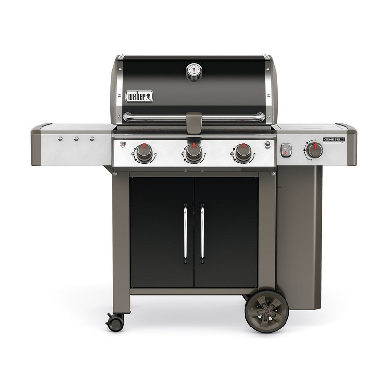 Barbecue Au Gaz Weber Genesis 2 E340 Noir Leroy Merlin