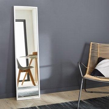 Miroir Milo INSPIRE, blanc, l.30 x H.120 cm