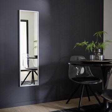 Miroir Milo INSPIRE, argent, l.30 x H.120 cm
