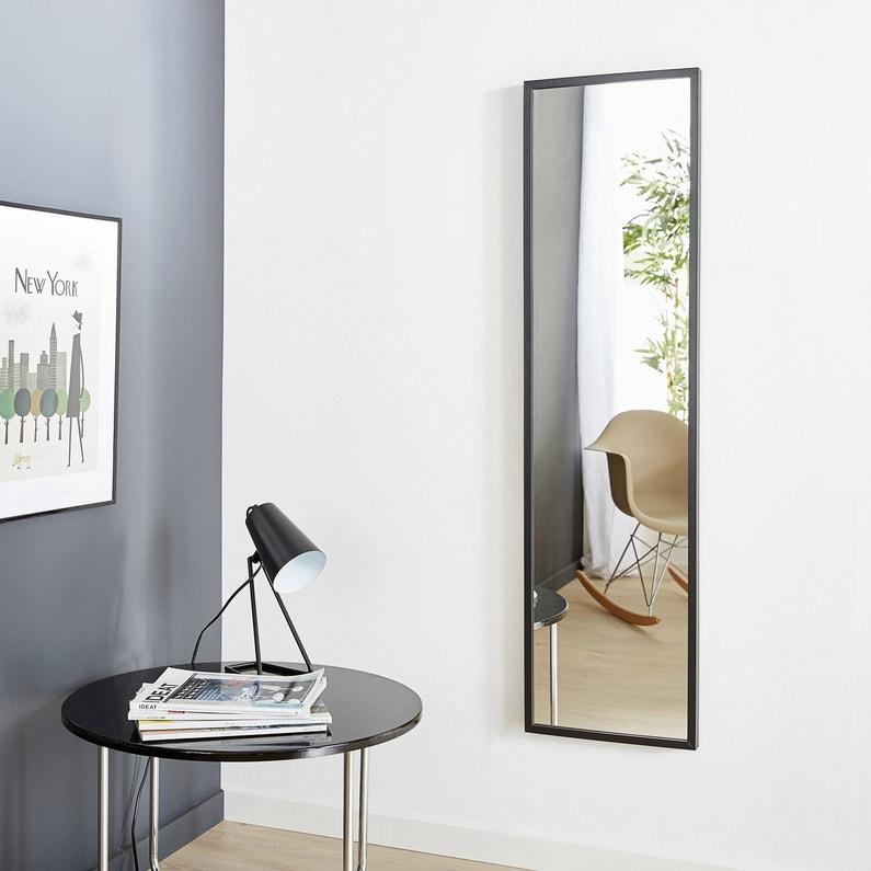 Miroir Milo Inspire Noir L 30 X H 120 Cm Leroy Merlin