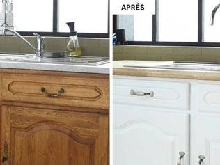 une cuisine d 39 inspiration zen aux couleurs marron blanc. Black Bedroom Furniture Sets. Home Design Ideas