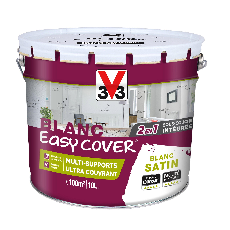 Peinture V33 Multisupport Easy Cover Blanc Satiné 10 L