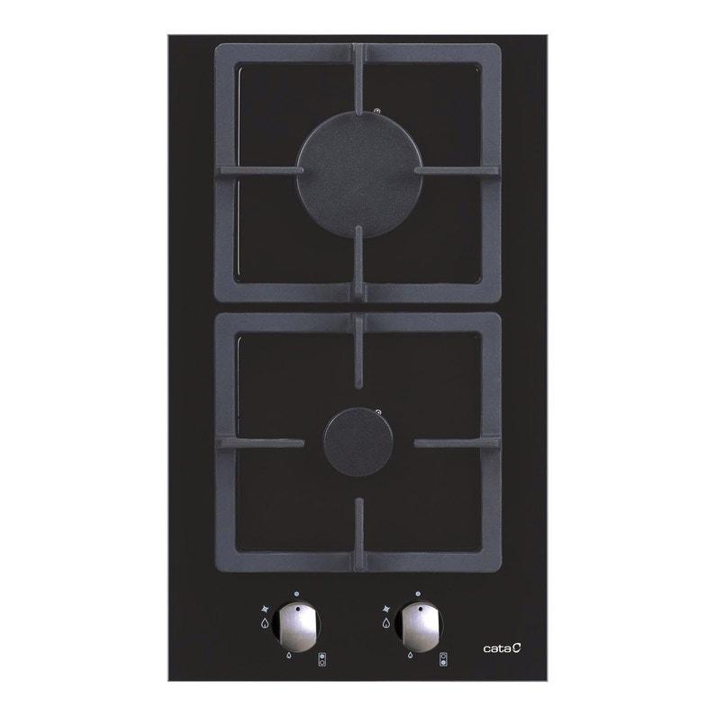 Plaque De Cuisson Gaz 2 Foyers Noir Cata Apelson Lci302bk