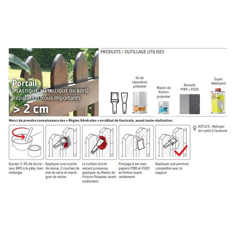 Kit Résine Kit Réparation Polyester Soloplast 400g