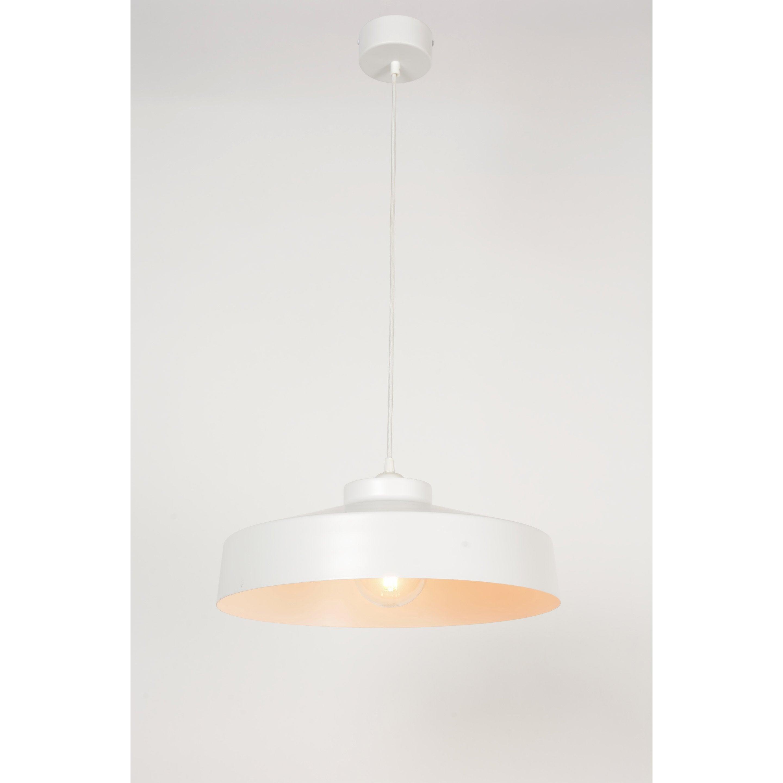 Suspension métal blanc COREP Archi 1 lumière(s) D.41 cm