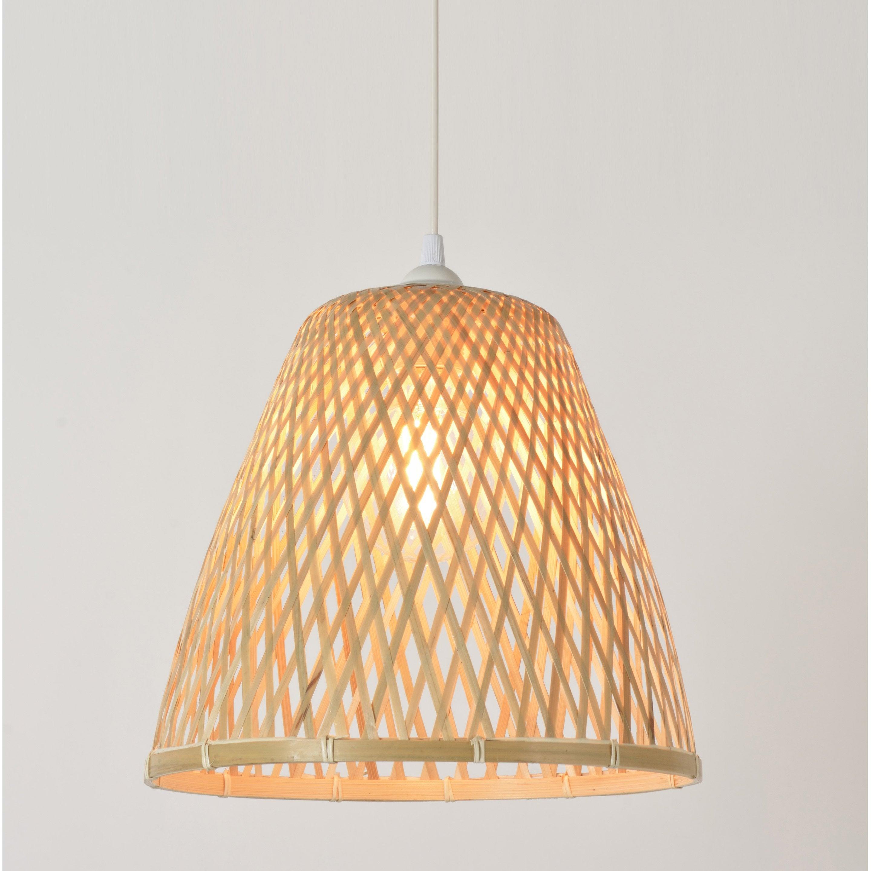 Suspension bambou naturel COREP Kami 1 lumière(s) D.38 cm