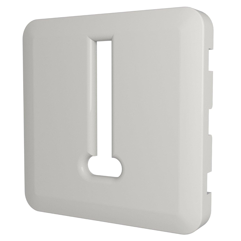 Boite Cache Prise Electrique cache prise téléphone cosy, lexman blanc-blanc n°0 mat