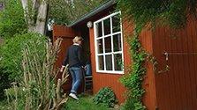 Cabane de jardin rouge de Falun