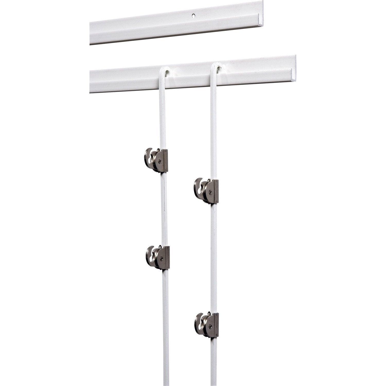 kit cimaise complet pour suspension tableaux le crochet francais leroy merlin. Black Bedroom Furniture Sets. Home Design Ideas