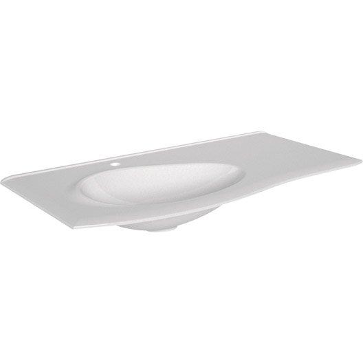 plan vasque simple elegance r sine de synth se 100 cm leroy merlin. Black Bedroom Furniture Sets. Home Design Ideas
