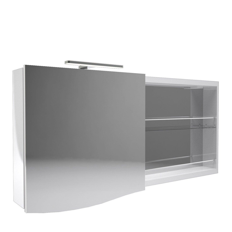 armoire avec clairage int gr cm blanc decotec. Black Bedroom Furniture Sets. Home Design Ideas