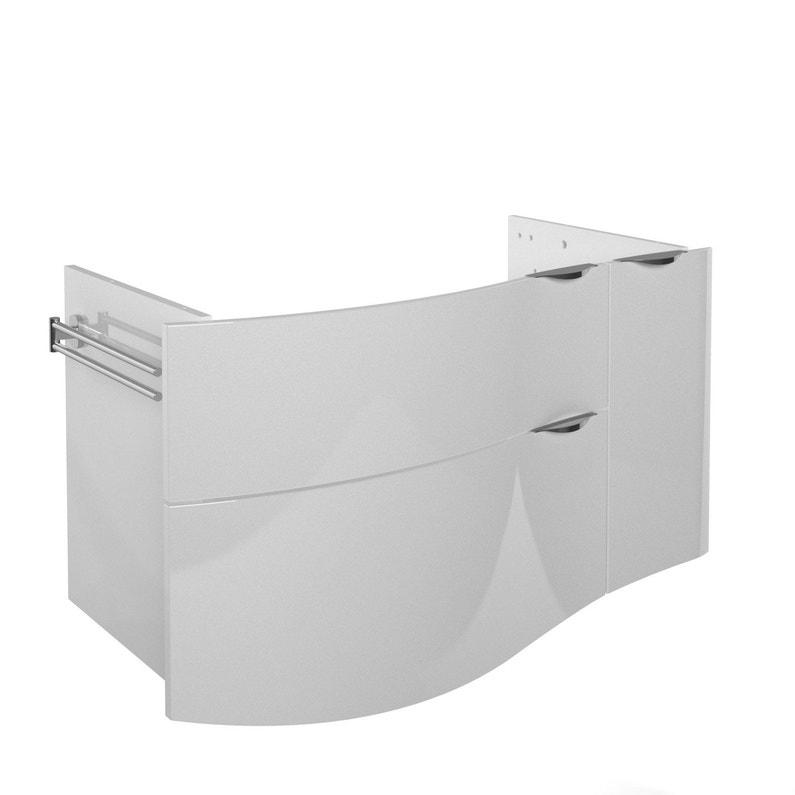 Meuble Sous Vasque L 100 X H 58 5 X P 51 2 Cm Blanc Elegance