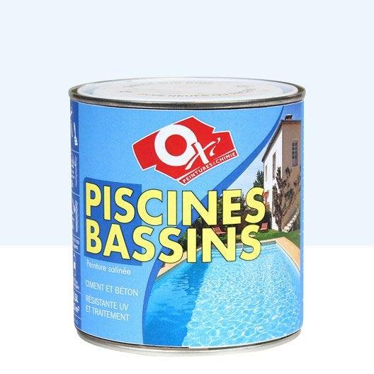 Peinture Piscine Et Bassin Extérieur Oxytol, Bleu, 0.5 L   Leroy