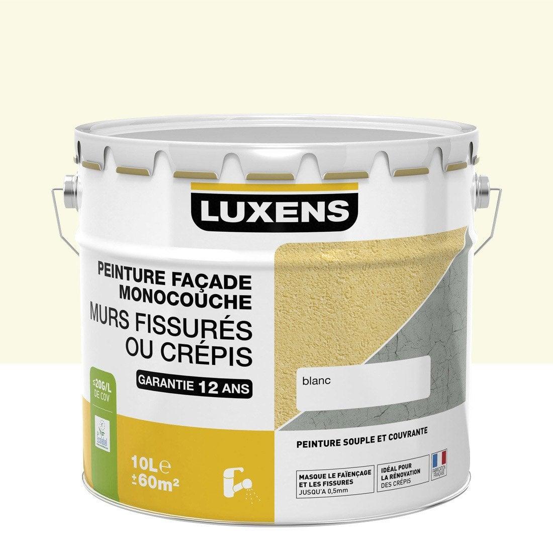 Peinture Façade Murs Fissurés LUXENS, Meulière, 10 L
