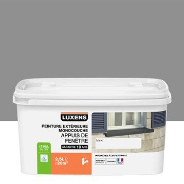 Peinture appui de fenêtre LUXENS, gris galet n°3, 2.5 l