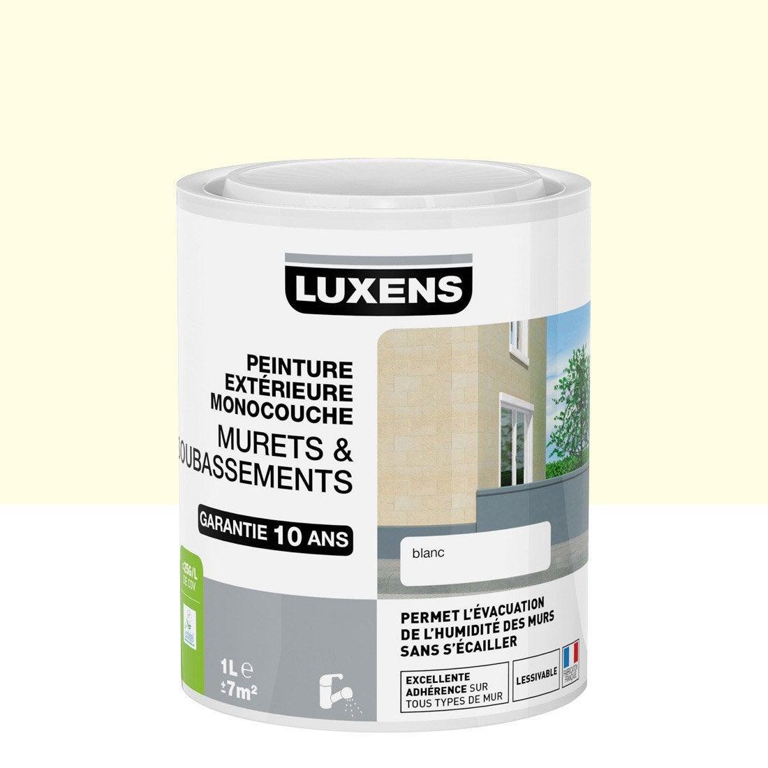 Peinture muret et soubassement luxens meuli re 1 l for Produit pour nettoyer facade crepi