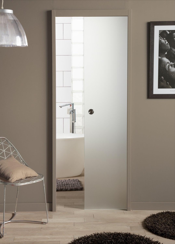 Une double porte coulissante pour la salle de bains  Leroy Merlin