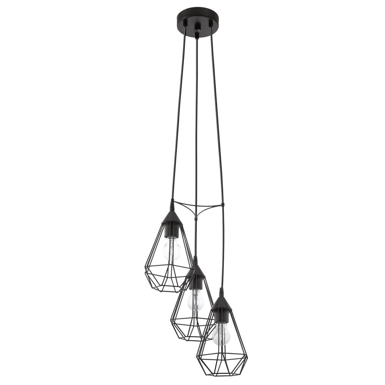 suspension e27 style industriel tarbes m tal noir 3 x 60. Black Bedroom Furniture Sets. Home Design Ideas
