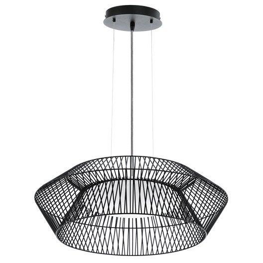 suspension, led intégrée design piastre métal noir 1 x 18 w eglo