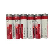 Lot de 6 piles alcaline, LR06 AA 1.5 V, LEXMAN