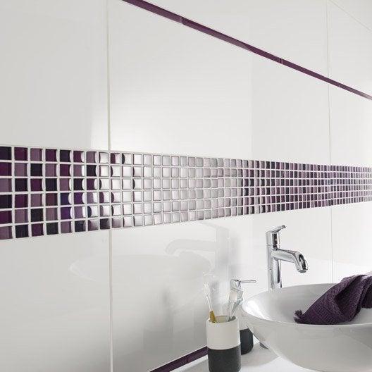 Listel colors violet tulipe l 2 x cm leroy merlin - Listel carrelage salle de bain ...