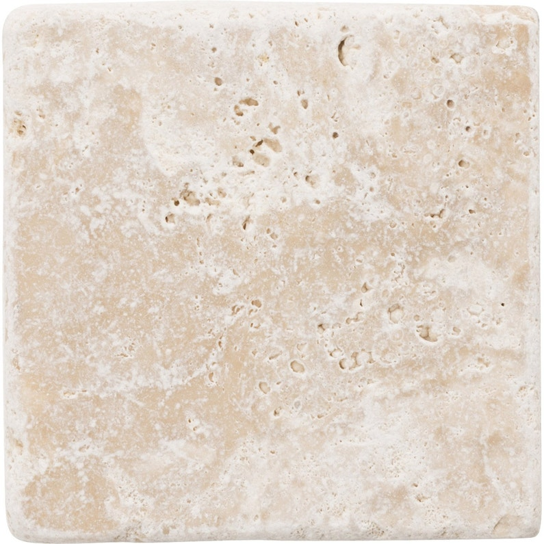 Travertin mur et sol pierre ivoire mat l.10 x L.10 cm | Leroy Merlin