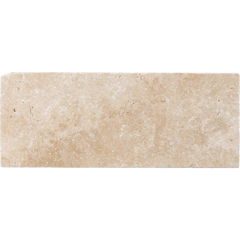 Parfait Carrelage Mur Et Sol Pierre Ivoire Mat L.20 X L.50 Cm, Travertin | Leroy  Merlin
