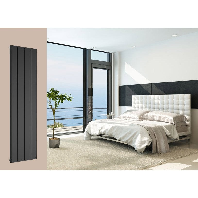 radiateur chauffage central leggero noir sabl cm 1265 w leroy merlin. Black Bedroom Furniture Sets. Home Design Ideas