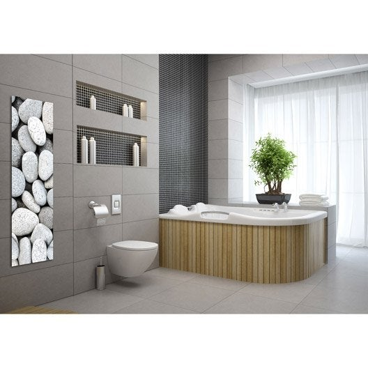 radiateur lectrique rayonnement decowatt galets 500 w leroy merlin. Black Bedroom Furniture Sets. Home Design Ideas