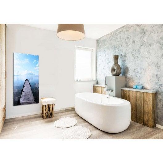 radiateur lectrique rayonnement decowatt ponton nordique 750 w leroy merlin. Black Bedroom Furniture Sets. Home Design Ideas