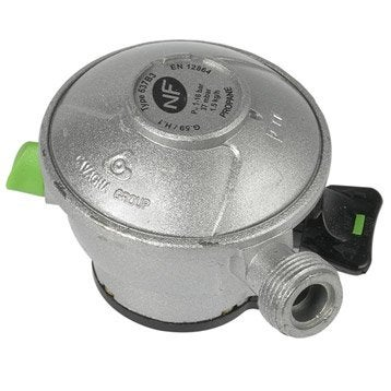 Détendeur inox gaz propane 5, H.6.5 cm GAZINOX