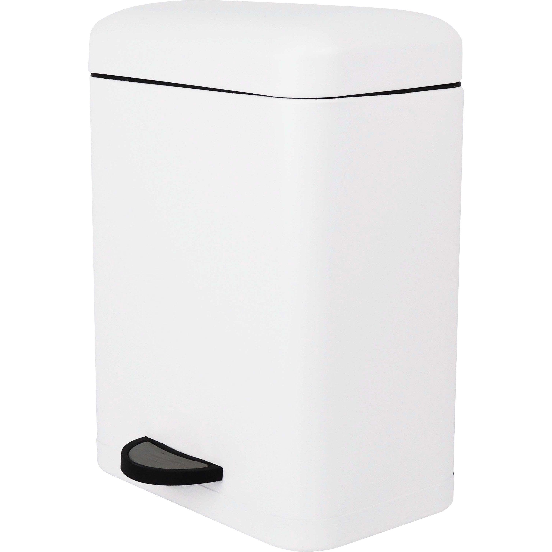 Poubelle de salle de bains 5 l white n°0 SENSEA Smart