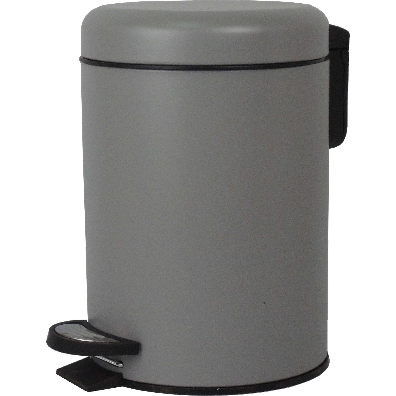 Poubelle de salle de bains 3 l granit n°3 SENSEA Pop