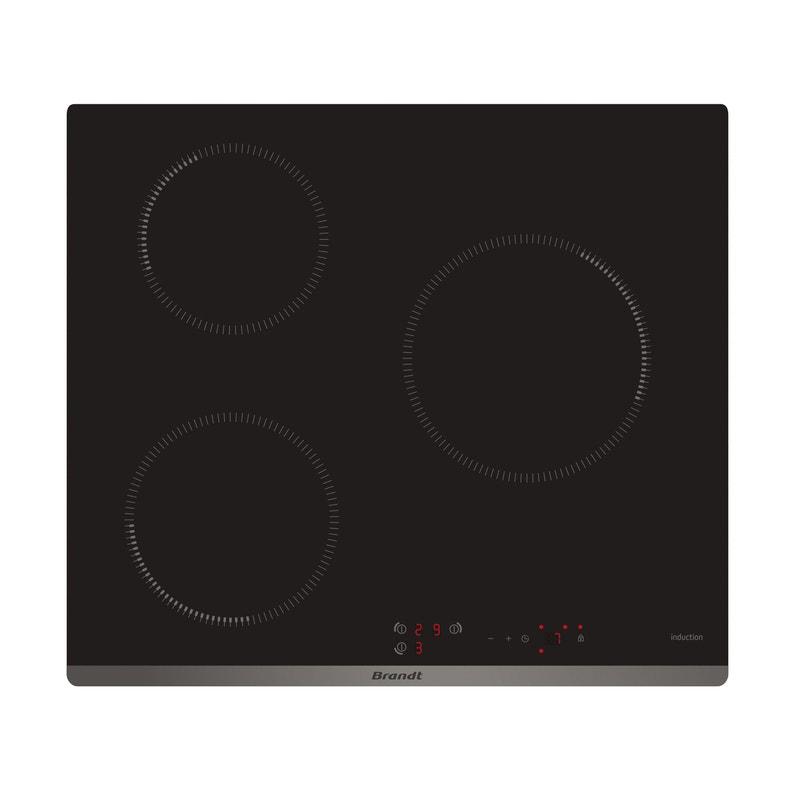 Plaque à Induction 3 Foyers Noir Brandt Bpi6312b
