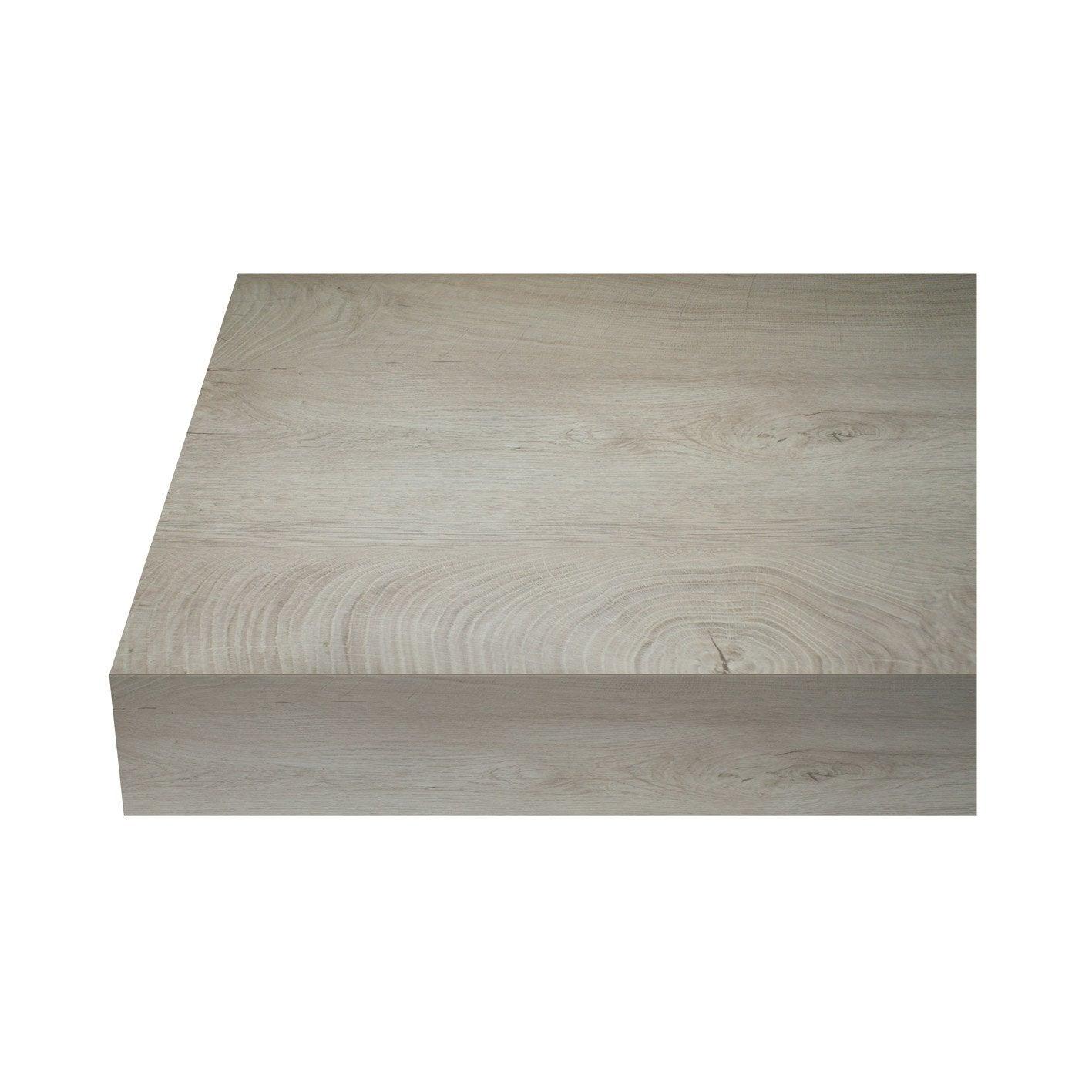 Plan De Travail Stratifié Avis plan de travail stratifié knotwood mat l.315 x p.65 cm, ep.38 mm