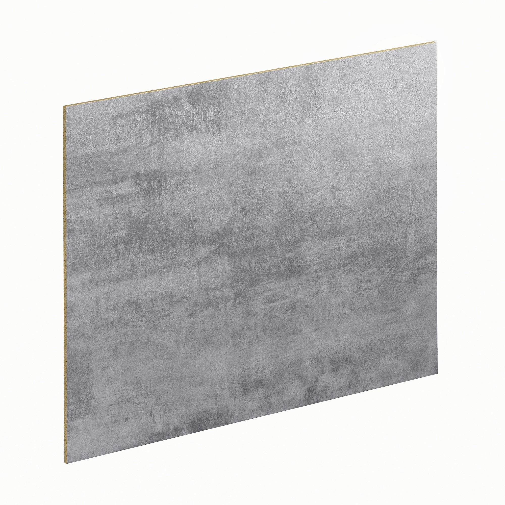 Avis Plan De Travail Lapeyre crédence stratifié beton cire fonce/clair h.64 cm x ep.9 mm x l.300 cm