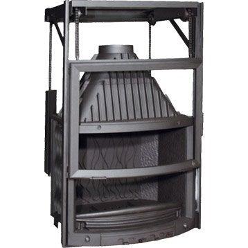 Foyer à bois façade galbée INVICTA 6887-44 14 kW